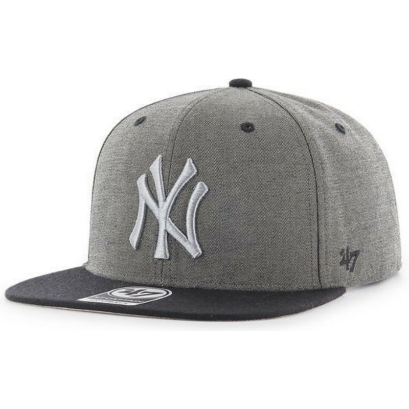 casquette-plate-gris-effect-marbre-snapback-new-york-yankees-mlb-captain-47-brand