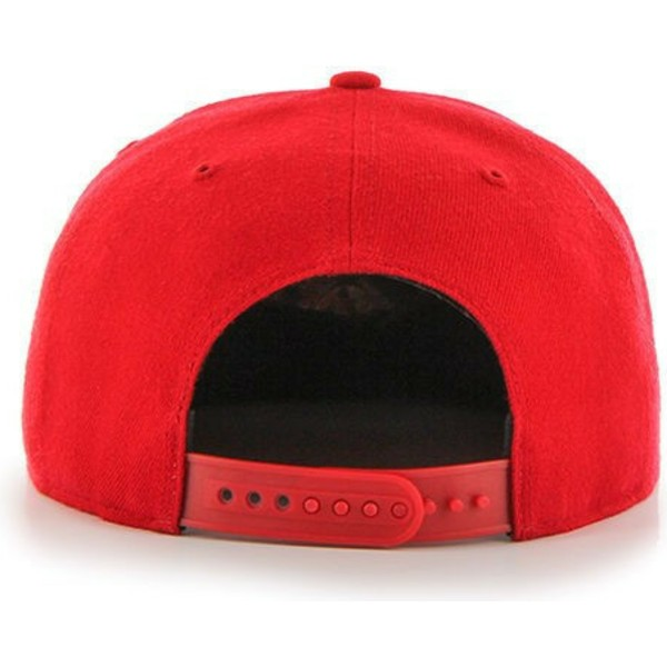 casquette-plate-rouge-snapback-detroit-red-wings-nhl-captain-47-brand