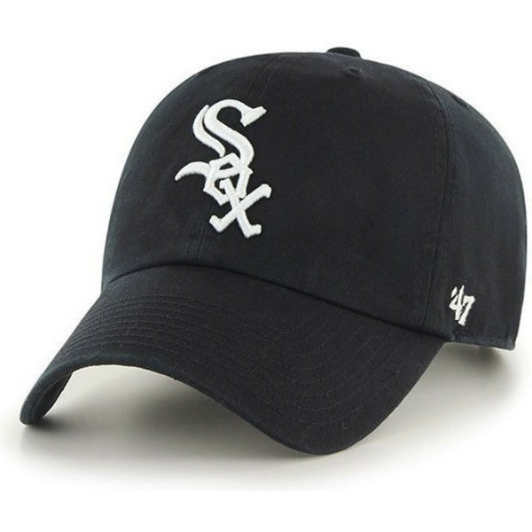 casquette-courbee-noire-chicago-white-sox-mlb-clean-up-47-brand