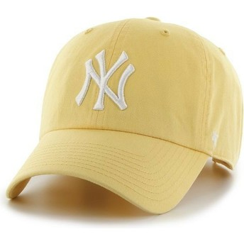 Casquette courbée jaune New York Yankees MLB Clean Up 47 Brand