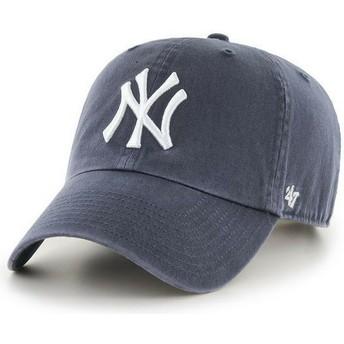 Casquette courbée gris denim New York Yankees MLB Clean Up 47 Brand