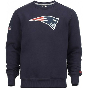 Sweat-shirt bleu Crew Neck New England Patriots NFL New Era
