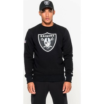 Sweat-shirt noir Crew Neck Las Vegas Raiders NFL New Era
