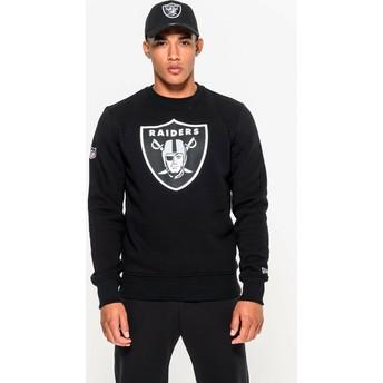 Sweat-shirt noir Crew Neck Oakland Raiders NFL New Era