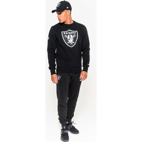 sweat-shirt-noir-crew-neck-oakland-raiders-nfl-new-era