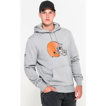 Sweat à capuche gris Pullover Hoodie Cleveland Browns NFL New Era