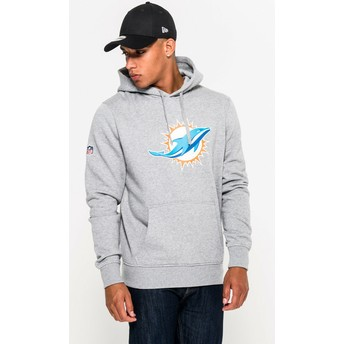 Sweat à capuche gris Pullover Hoodie Miami Dolphins NFL New Era