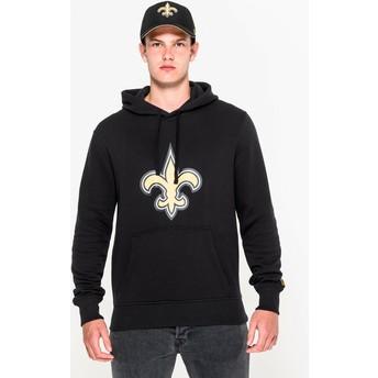 Sweat à capuche noir Pullover Hoodie New Orleans Saints NFL New Era