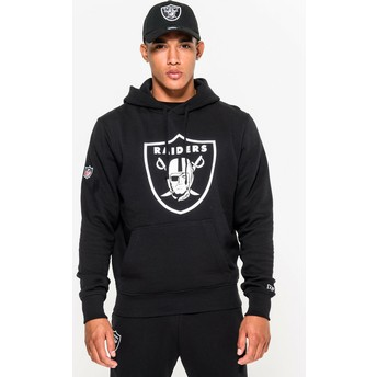 Sweat à capuche noir Pullover Hoodie Oakland Raiders NFL New Era