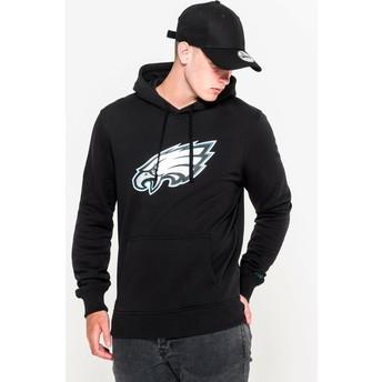 Sweat à capuche noir Pullover Hoodie Philadelphia Eagles NFL New Era