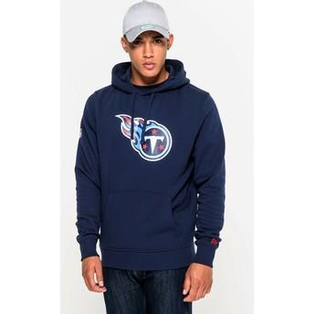 Sweat à capuche bleu Pullover Hoodie Tennessee Titans NFL New Era