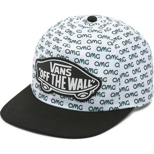 casquette-plate-blanche-snapback-omg-vans