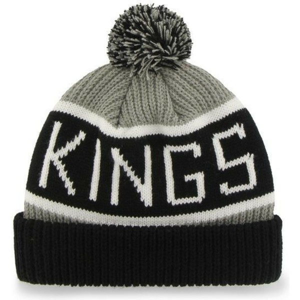 bonnet-gris-avec-pompon-los-angeles-kings-nhl-calgary-47-brand