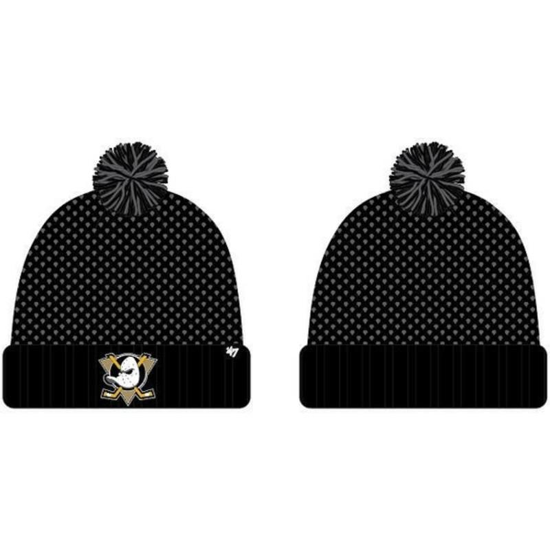 e923267202 Bonnet noir avec pompon Anaheim Ducks NHL Calypso 47 Brand: acheter ...