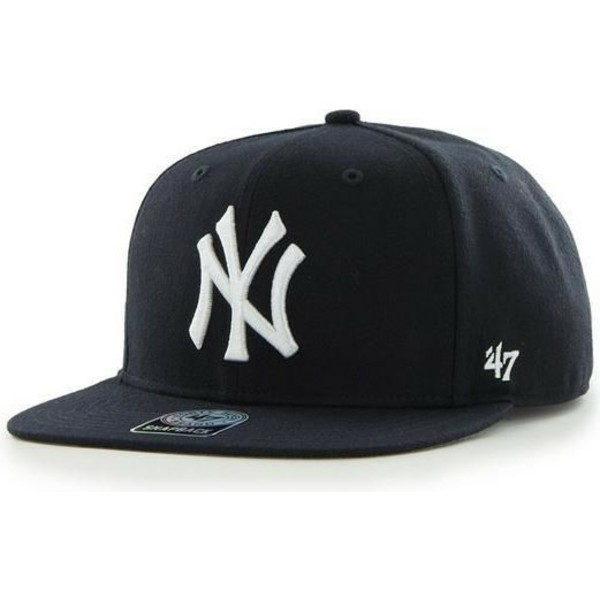 casquette-plate-noire-snapback-new-york-yankees-mlb-sure-shot-captain-47-brand