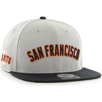 Casquette plate gris avec lettres San Francisco Giants MLB 47 Brand