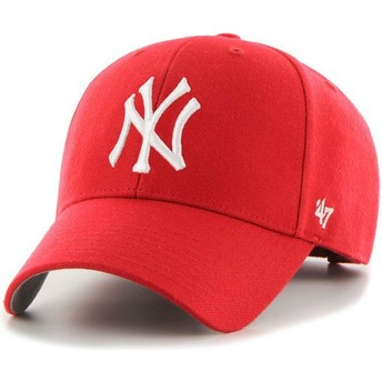 Casquette courbée rouge New York Yankees MLB MVP 47 Brand
