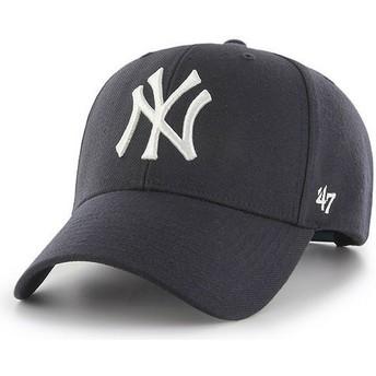 Casquette courbée bleue marine snapback avec petit logo New York Yankees MLB MVP 47 Brand