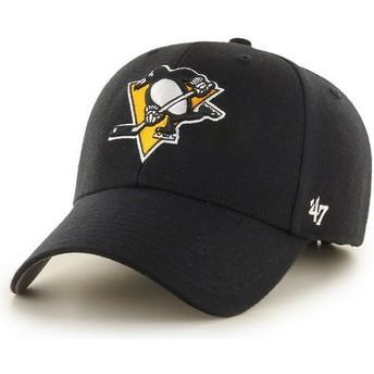 Casquette courbée noire Pittsburgh Penguins NHL MVP 47 Brand