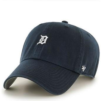 Casquette courbée bleue marine avec mini logo Detroit Tigers MLB Clean Up 47 Brand