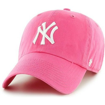 Casquette courbée rose New York Yankees MLB Clean Up 47 Brand