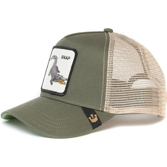 Casquette trucker verte crocodile Snap At Ya Goorin Bros.