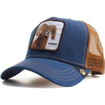 Casquette trucker bleue marine chèvre Big Horn Goorin Bros.