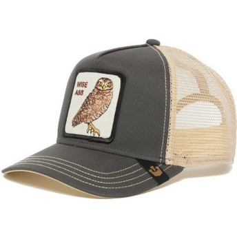 Casquette trucker grise hibou Big Ass Goorin Bros.