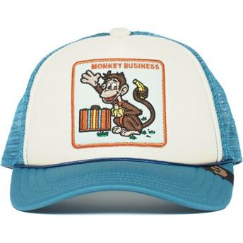 Casquette trucker bleue pour enfant singe Monkey Business Goorin Bros.