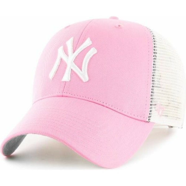 casquette-trucker-rose-new-york-yankees-mlb-47-brand
