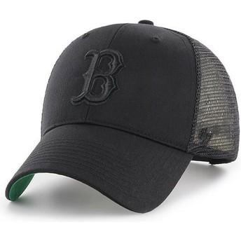 Casquette trucker noire avec logo noir Boston Red Sox MLB MVP Branson 47 Brand