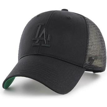 Casquette trucker noire avec logo noir Los Angeles Dodgers MLB MVP Branson 47 Brand