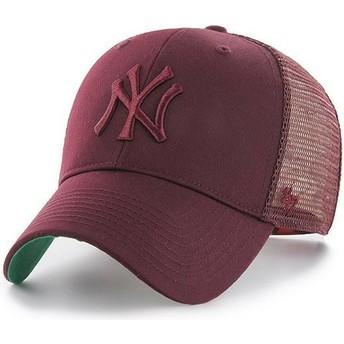 Casquette trucker grenat avec logo grenat New York Yankees MLB MVP Branson 47 Brand