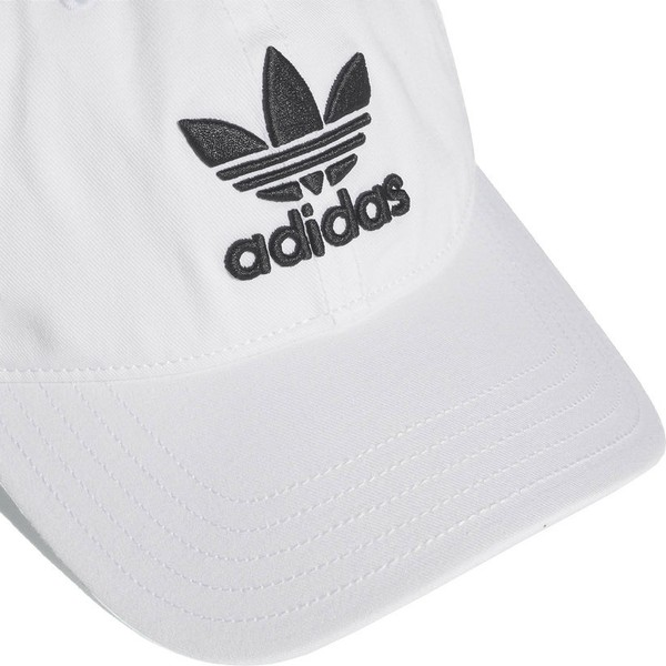 casquette-courbee-blanche-ajustable-trefoil-classic-adidas