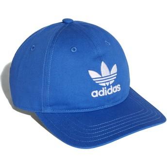Casquette courbée bleue ajustable Trefoil Classic Adidas