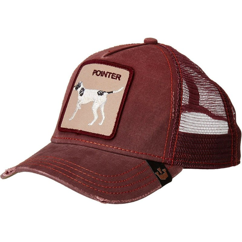 casquette-trucker-bordeaux-chien-the-pointer-goorin-bros