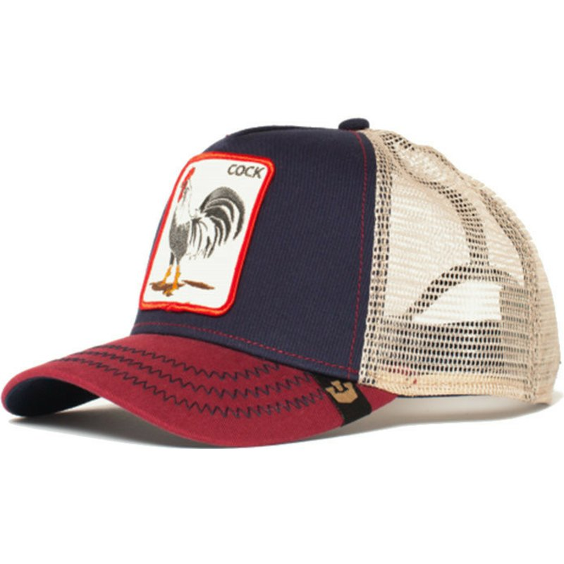 casquette-trucker-bleue-marine-coq-all-american-rooster-goorin-bros