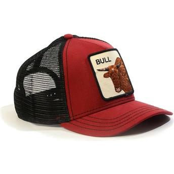 Casquette trucker rouge bull Bull Goorin Bros.
