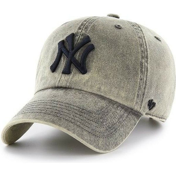 casquette-courbee-grise-new-york-yankees-mlb-clean-up-cement-47-brand