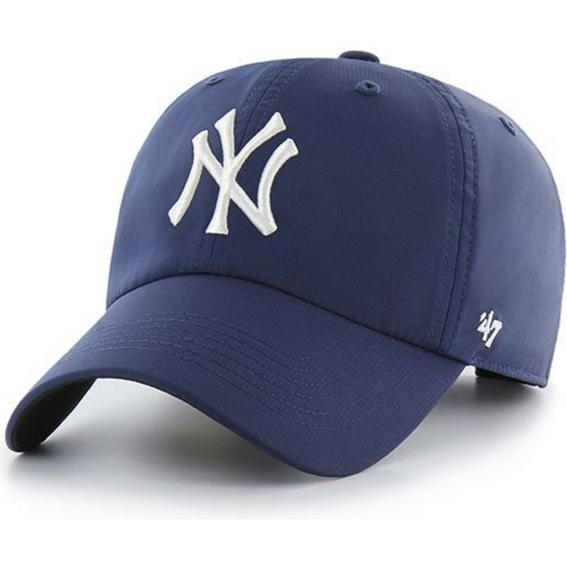 casquette-courbee-bleue-marine-new-york-yankees-mlb-clean-up-repetition-47-brand