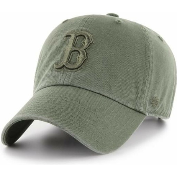 casquette-courbee-verte-avec-logo-vert-boston-red-sox-clean-up-47-brand