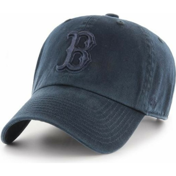 casquette-courbee-bleue-marine-avec-logo-bleu-marine-boston-red-sox-mlb-clean-up-47-brand