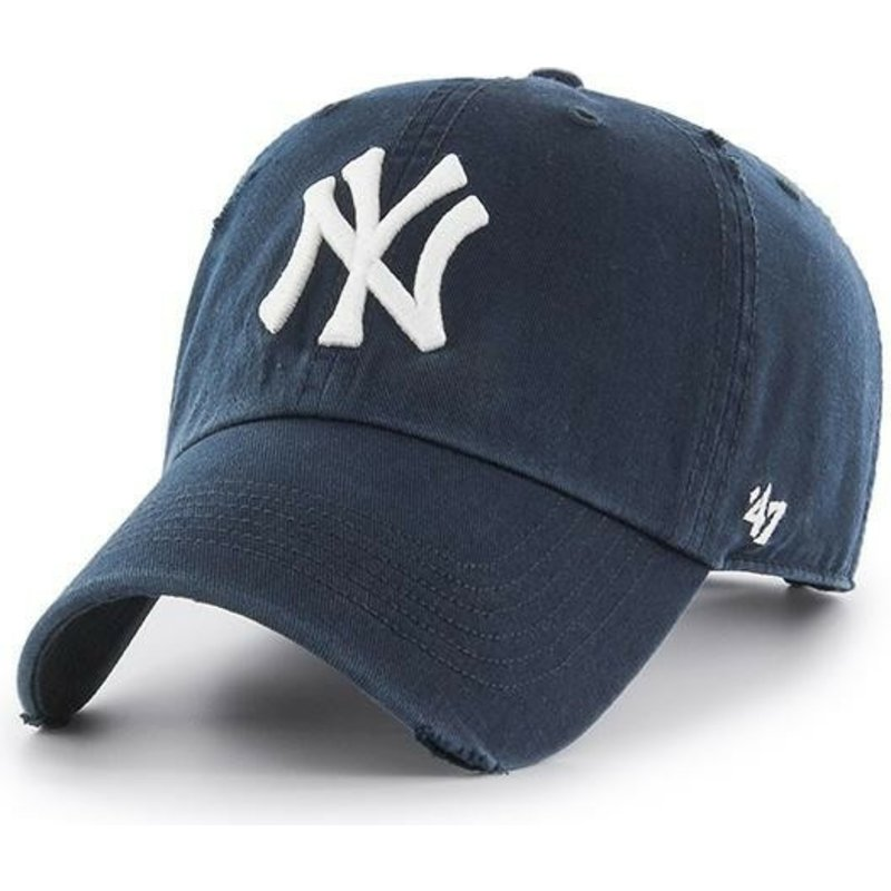 casquette-courbee-bleue-marine-new-york-yankees-mlb-clean-up-ridge-47-brand
