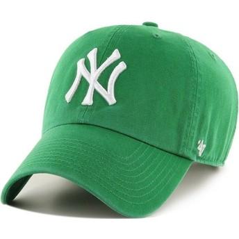 Casquette courbée verte New York Yankees MLB Clean Up 47 Brand