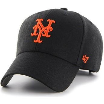 Casquette courbée noire avec logo orange New York Mets MLB MVP 47 Brand
