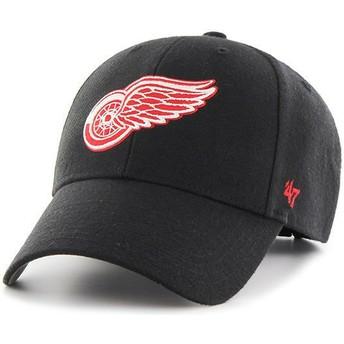 Casquette courbée noire avec logo rouge Detroit Red Wings NHL MVP 47 Brand