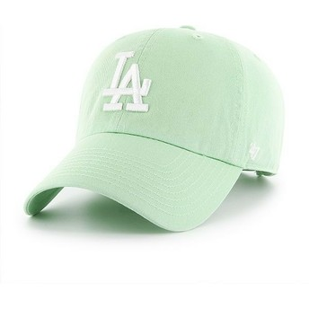 Casquette courbée verte claire Los Angeles Dodgers MLB Clean Up 47 Brand