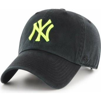 Casquette courbée noire avec logo jaune New York Yankees MLB Clean Up 47 Brand