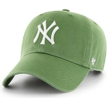 Casquette courbée verte fern New York Yankees MLB Clean Up 47 Brand