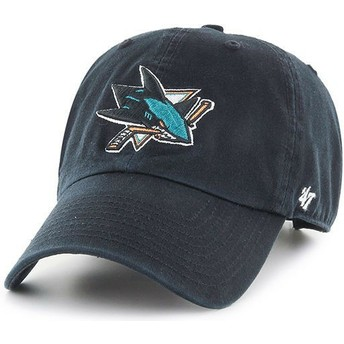 Casquette courbée noire San Jose Sharks NHL Clean Up 47 Brand